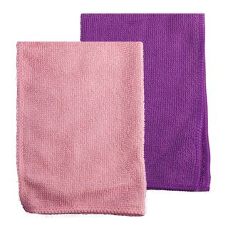 OFFICEMAG / Universal napkins, microfiber, 25x25 cm, purple + pink, SET of 2 pcs.