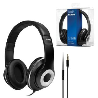SVEN / Headphones with a microphone (headset) AP-930M, wired 1.3 m, stereo, with a headband, black