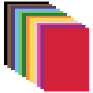 Cardboard A4 colored COATED (glossy), 12 sheets 12 colors, in a folder, BRAUBERG, 200х290 mm, Kilimanjaro