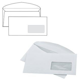 The envelope C65 (114х229 mm), right window, glue, SET of 1000 PCs., valve machine, inner sealing