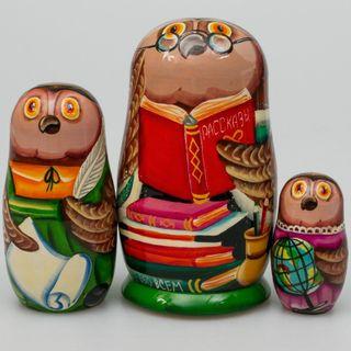 "Matryoshka ""Wise owl"" Suite 3 dolls"