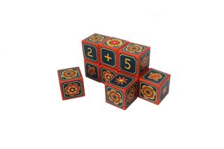 "Souvenir cubes with elements of the account ""Flowers of the sun"" hand-painted"