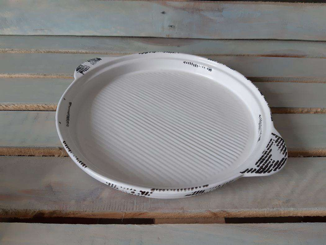 "Horex / Dish ""Gazzetta Bianco"" corrugato 4 pcs."