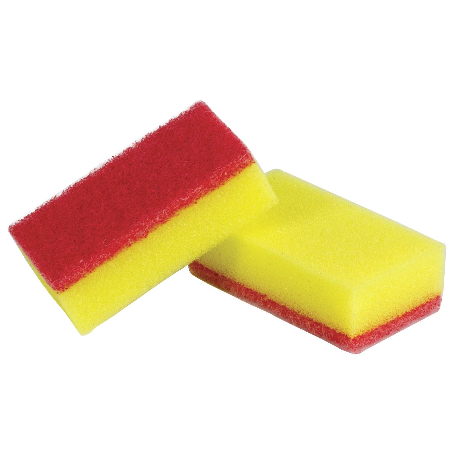 LYUBASHA / Household scouring sponges - foam rubber / abrasive, 20 x 40 x 70 mm, SET 10 pcs.