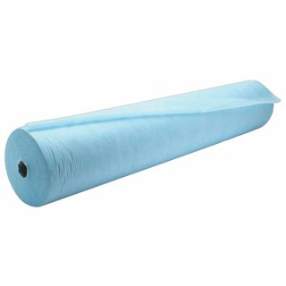 HEXA / Disposable roll-up sheets with perforation 100 pcs. 80x200 cm, laminated spunbond 40 g / m2, blue