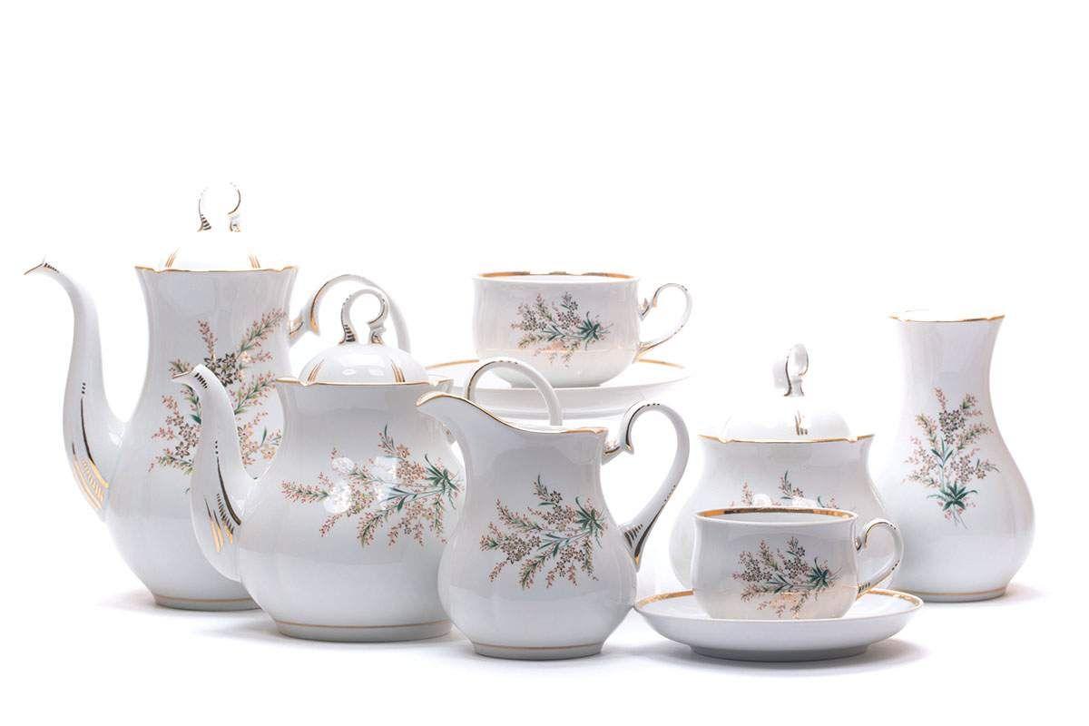 Dulevo porcelain / Tea and coffee service 29 pcs. Appetizing Nina