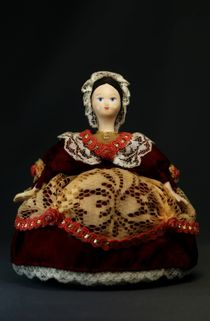 Doll gift porcelain. The merchant's wife (styling). The end of the 19th century. Russia.