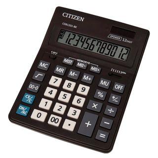 Desktop calculator CITIZEN BUSINESS LINE CDB1201BK (205x155 mm), 12 digits, dual power supply
