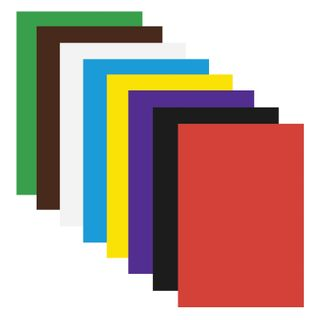 Cardboard A4 colored COATED (glossy), 8 sheets in 8 colors, in the folder of ONLANDIA, 200х290 mm,