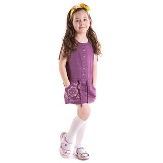 "Blouse children's ""Caramel"" purple with silk embroidery"