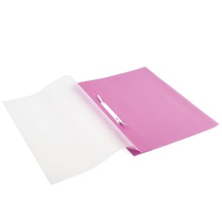 Folder plastic with perforations BRAUBERG, A4, 140/180 µm, pink
