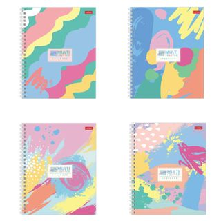 Notebook, A5, 48 sheets, HATBER, comb, cage, matte lamination,