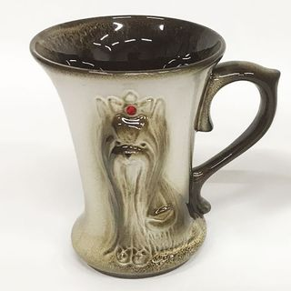Ceramic mug, with a relief image of a cute dog
