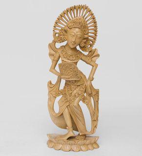 "Wooden statuette ""Balinese dancer"" 41 cm"