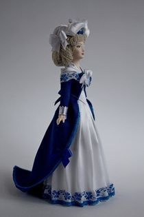 Lady in evening dress of the 18th century. Doll gift