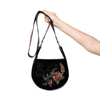 Velvet Clivia Bag black