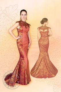 Dress womens linen terracotta