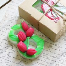 Handmade soap on 8 March, Tulips