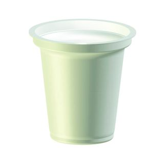 Cups made of polystyrene for packaging dairy products