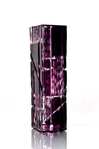 "Crystal vase ""Consul"" medium purple"