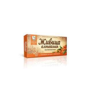 "Natural chewing gum ""Zhivitsa ""Altai"" with beeswax and sea buckthorn"""