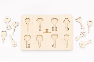 Game keys - developing toy (handmade)
