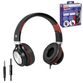 DEFENDER / Headphones with microphone (headset) Accord 175, wired, 1.2 m, black with red - view 1