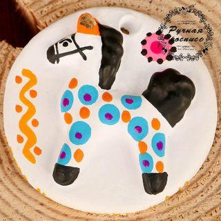 "Mural ""Horse"", Dymkovo toys"