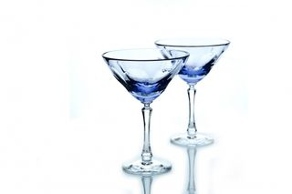 Set of crystal martini glasses lilac 2 pieces