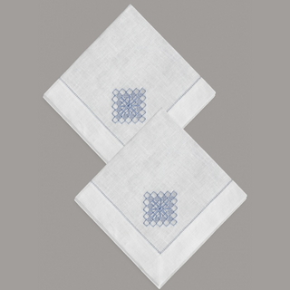 A set of napkins with embroidery Kresttsy line, 2 PCs 40*40 cm