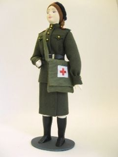 Doll gift. Sergeant of the medical service of the red army.