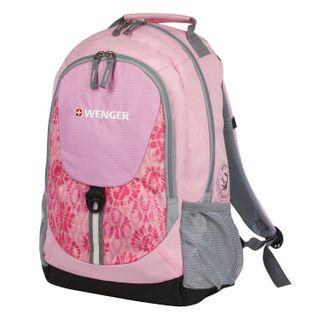 WENGER backpack, universal, pink, gray insert, 20 l, 32х14х45 cm