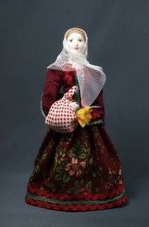 Doll gift porcelain. The day of Pentecost. Russia. 18-19 centuries.