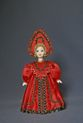 Doll gift porcelain. Center. Russia. Maiden costume. 19th century. - view 1