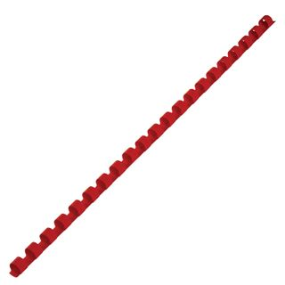 Plastic springs for binding, SET 100 pcs., 8 mm (for stitching 21-40 l.), Red, BRAUBERG