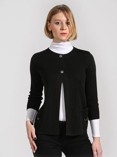 Cardigan two button placket