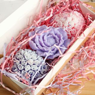 Handmade soap set Delicate bouquet