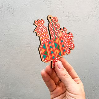 "Christmas tree toy ""Cock"" (Kargopol embroidery)"