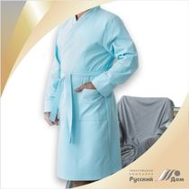 Bathrobe with piping (winch strap)