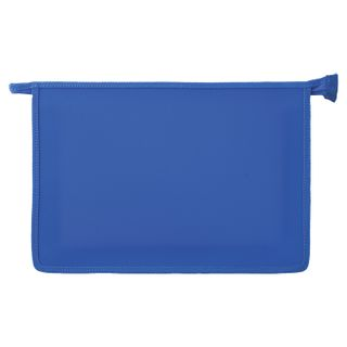 Folder for notebooks A4 PYTHAGORAS, plastic, zipper top, single tone, blue