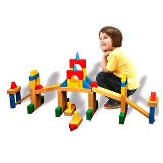 """DESIGNER OUTDOOR large """"Builder 2"""" color 64 items (2 boxes ) for children from 3 years"""