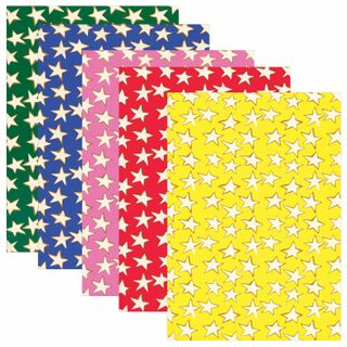 Coloured paper, A4, offset, self-ADHESIVE, 5 sheets of 5 colors, the