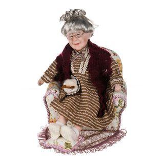 "Porcelain doll ""Nana in chair"""