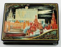 Kholuy art varnish miniature casket White House