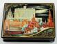 Kholuy art varnish miniature casket White House - view 1