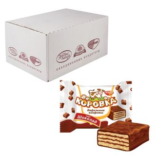 """ROT FRONT / Chocolate sweets """"Korovka"""", wafer with chocolate filling, by weight, 2 kg, corrugated box"""