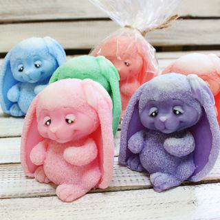 Handmade soap Bunny - mix of colors
