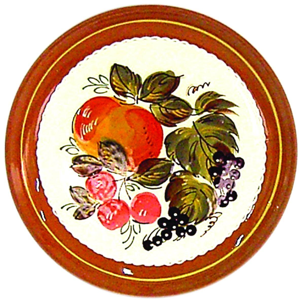 Tarusa artist / Plate Fruit, 22cm