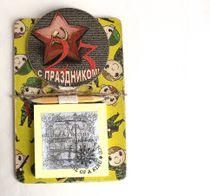 Handmade Men's Souvenir Fridge Magnet for Winner with Note Pad
