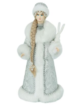 Snow Maiden with a hare, 32 cm.